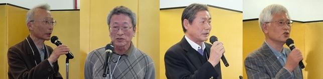 左から、新入会員の猪俣さん、杉浦さん、高橋さん、村木さん