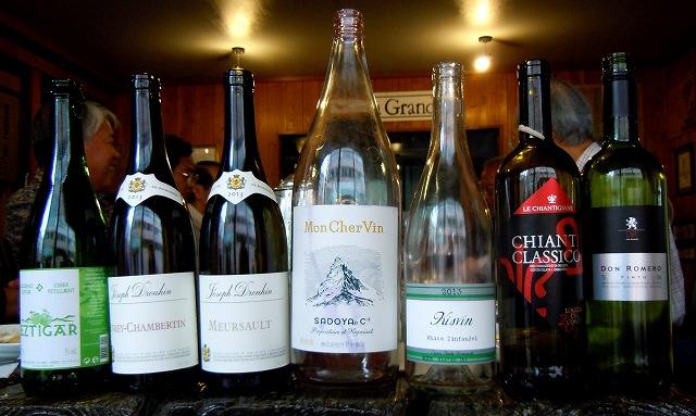 今日のワイン7本