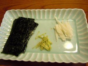 山芋山葵海苔添え