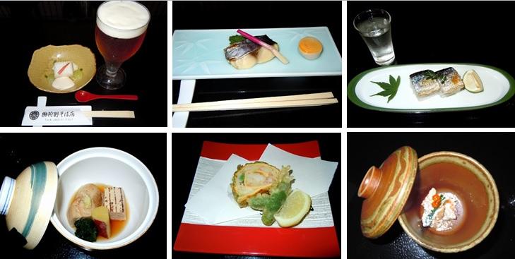 〆張鶴・宝剣を飲みながら料理長自慢の京懐石風創作料理を楽しむ
