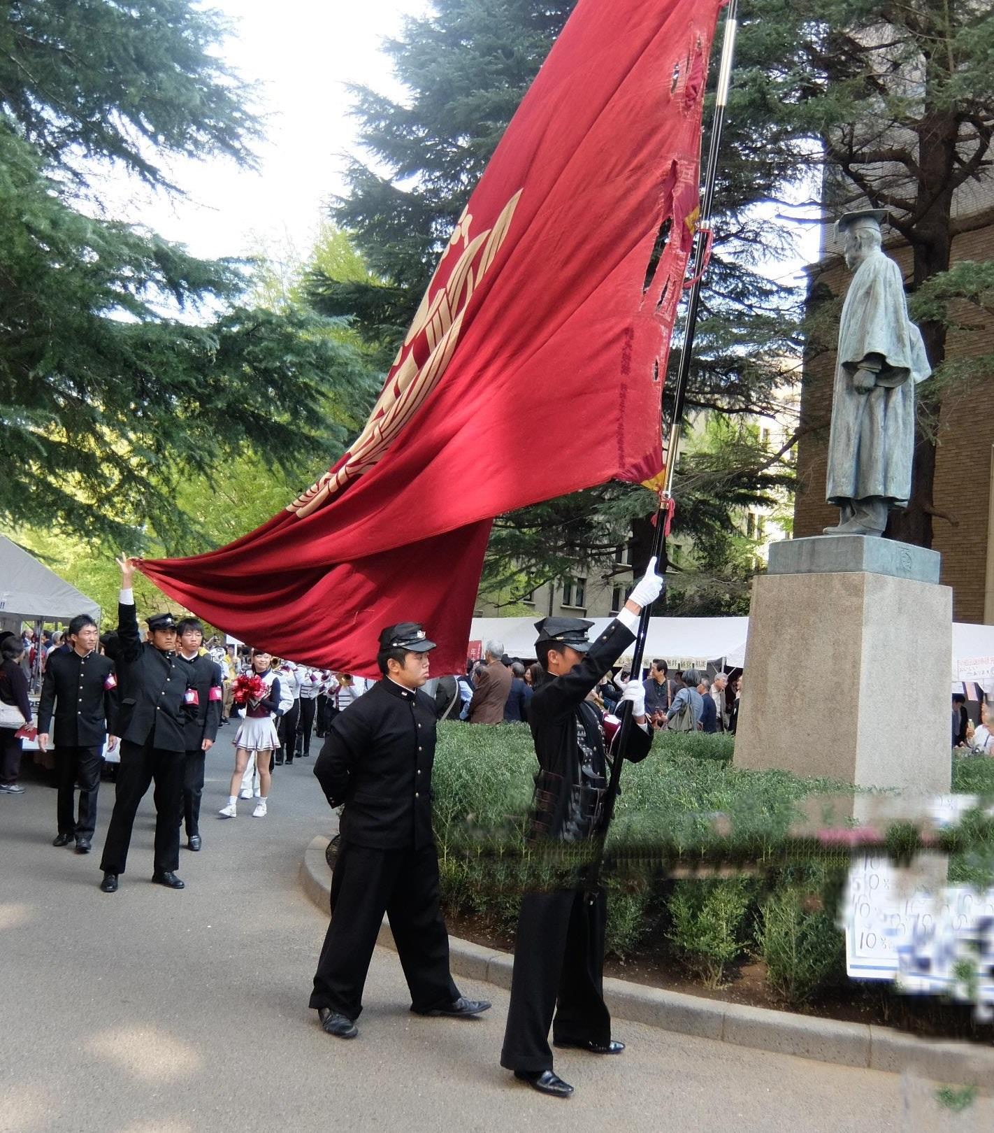 応援部のパレード