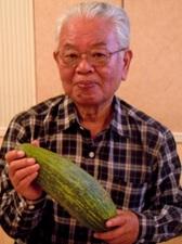 小川さん生産の細長い南瓜