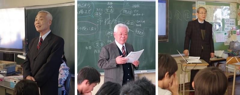 (左から)講師を務めた峯岸さん、大野さんん、鈴木さん