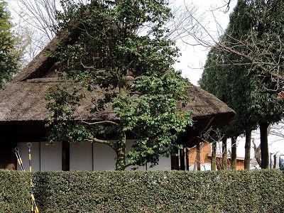城山公園の移築古民家、小平のふるさと村にそっくり