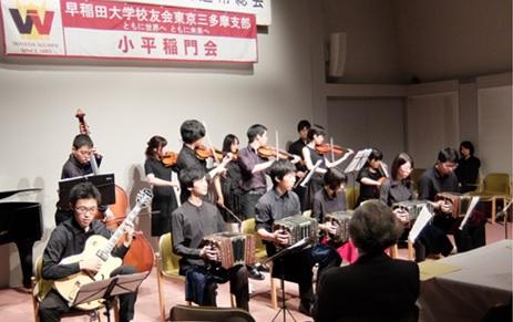 迫力満点のオルケスタ・デ・タンゴ・ワセダによる演奏